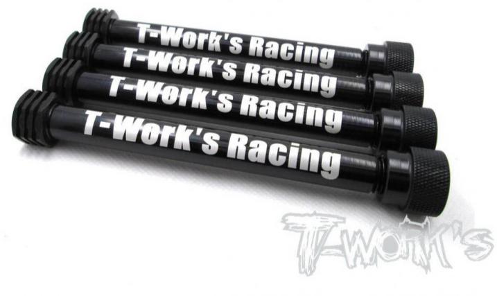 T-works Axe de Rangements Pour Pneus 1/8 TT (x4) TO-055