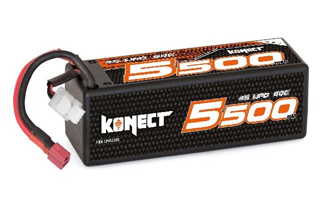 Konect Lipo 5500mah 14.8V 60C 4S1P 81.4Wh (XL pack Dean), KN-LP4S5500