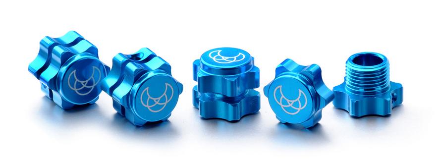 ABSIMA Hexagones de roue 17mm bleu (4), 2560001