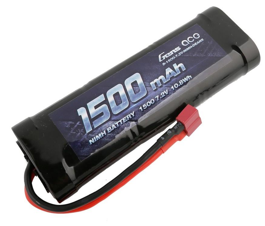 Gens ace Batterie NiMh 7.2V-1500Mah (Deans) 135x48x25mm 242g, GE2-1500-1D
