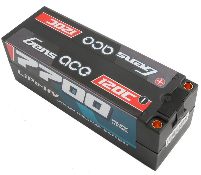 Gens ace Batterie LiPo 4S HV 15.2V-7700-120C(5mm) 139x47x48mm 590g, GE4-7700H-4T5