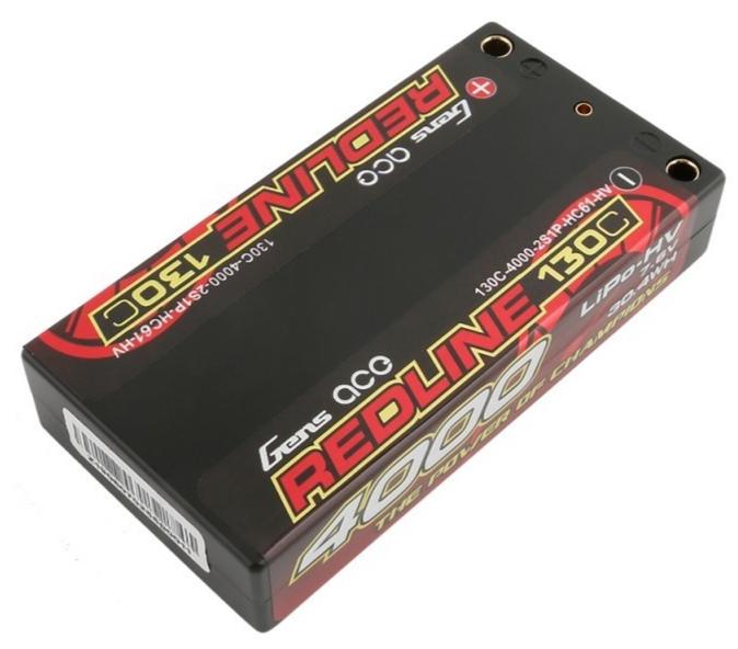 Gens ace Batterie LiPo REDLINE 2S HV 7.6V-130C-4000 (4mm) 97x48x16mm 125g, GE4RL-4000H-2ULCG