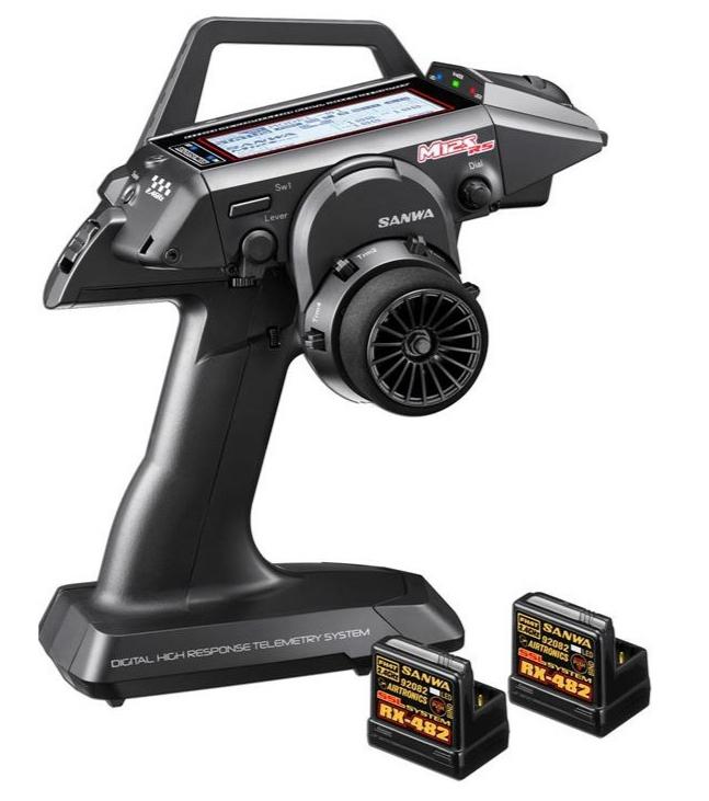 SANWA Radio M12S-RS PC + 2x RECEPTEUR RX482, 101A32373-2RX482