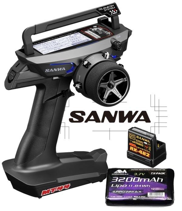 SANWA COMBO RADIO MT-44 PC + RX482 + TX BATTERIE, 101A32171BAT