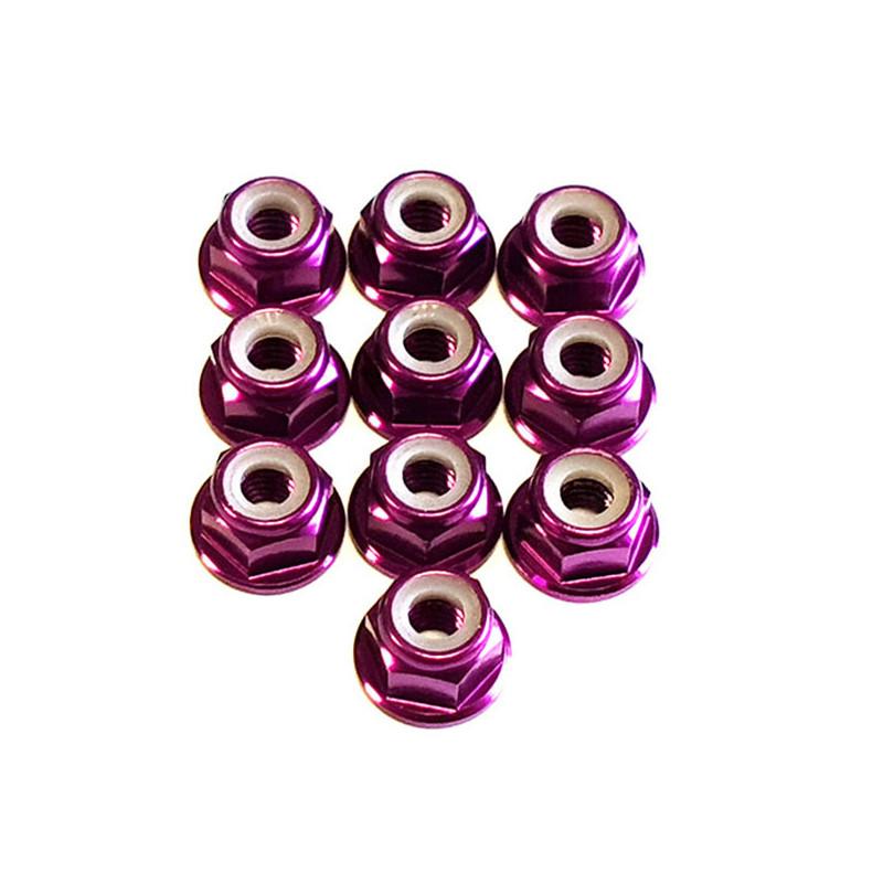 DONUTS-RACING Ecrou Nylstop M4 Epaulé Violet (10) DONV-0128