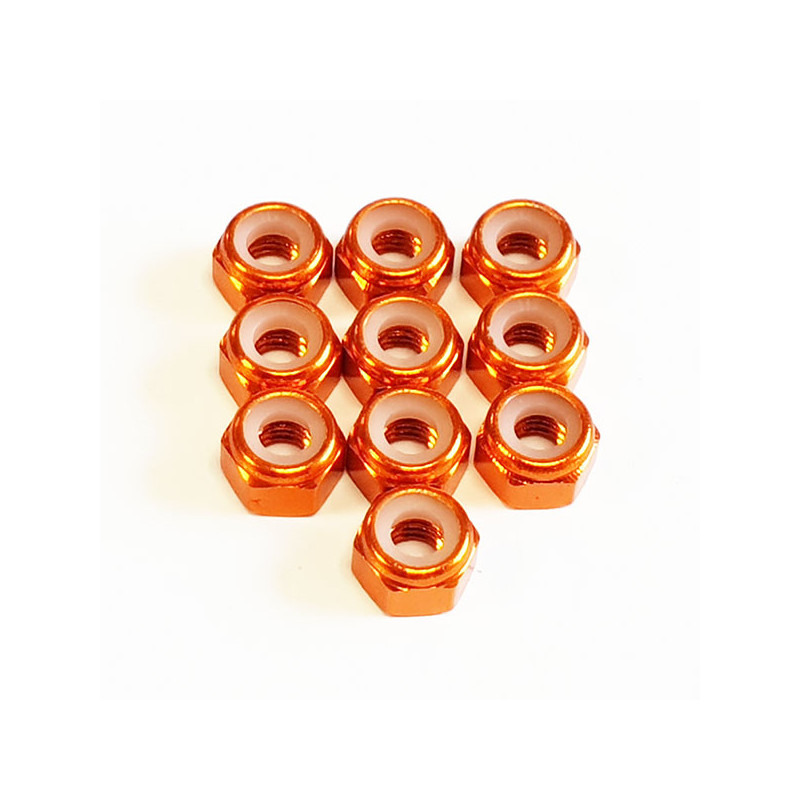 DONUTS-RACING Ecrou Nylstop M3 Orange (10) DONV-0035