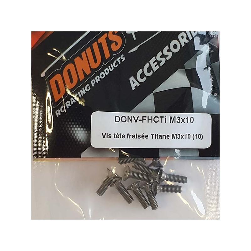 DONUTS-RACING Vis FHC Titane M3x10 (10) DONV-FHCTi M3x10