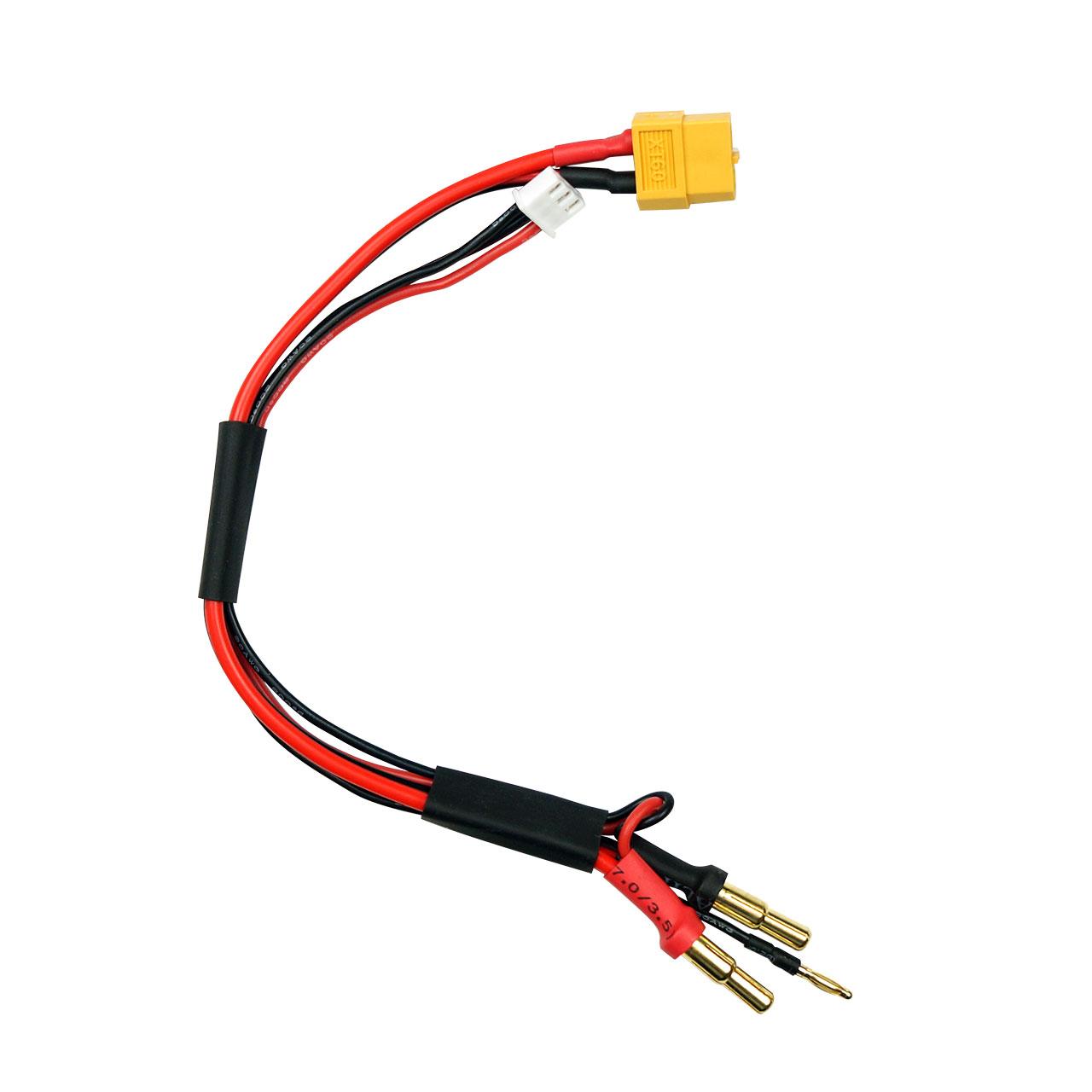 SKYRC Cable de charge XT60 pour batterie prise lipo 2s 4mm et 5mm SK600023-14