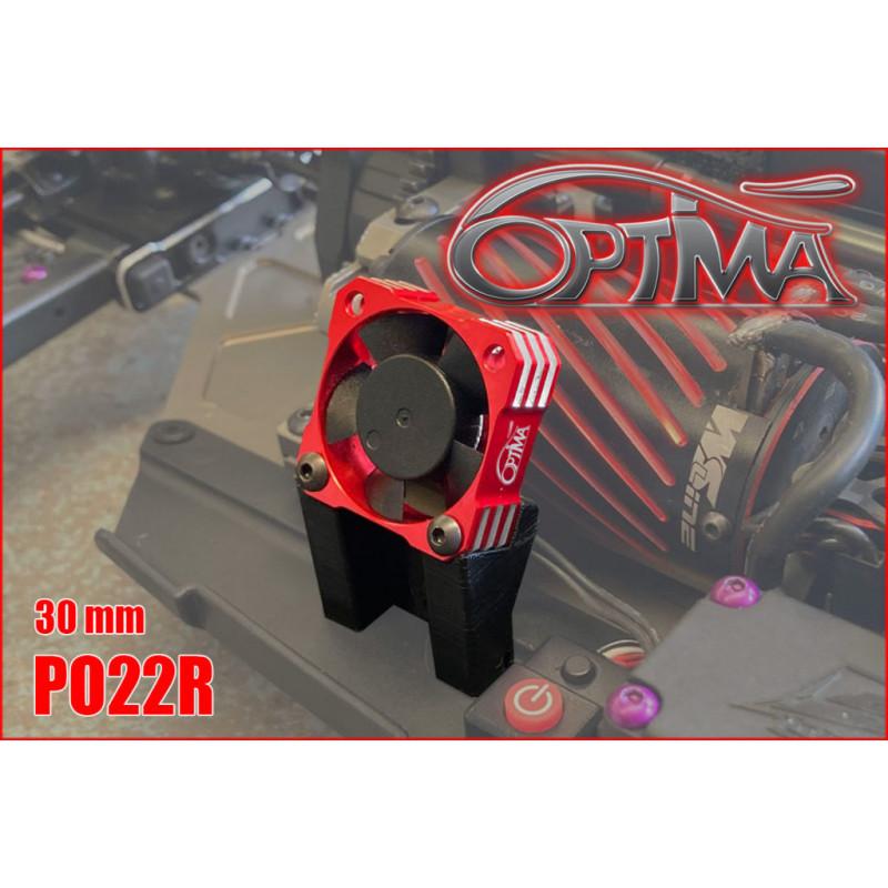 Optima Ventilateur Moteur Universel 30x30 Rouge PO22R