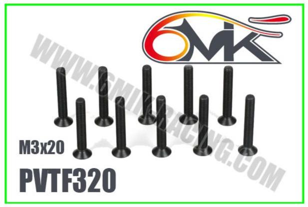 6MIK Vis acier FHC M3x20, PVTF320