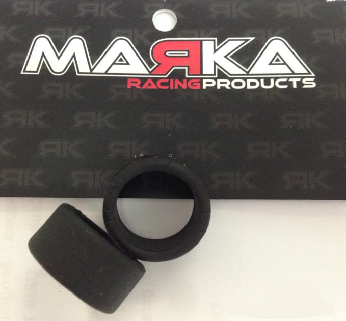 Pneu slick avant gomme V8 15° pour RCP track (1 paire), MZR-V8F15