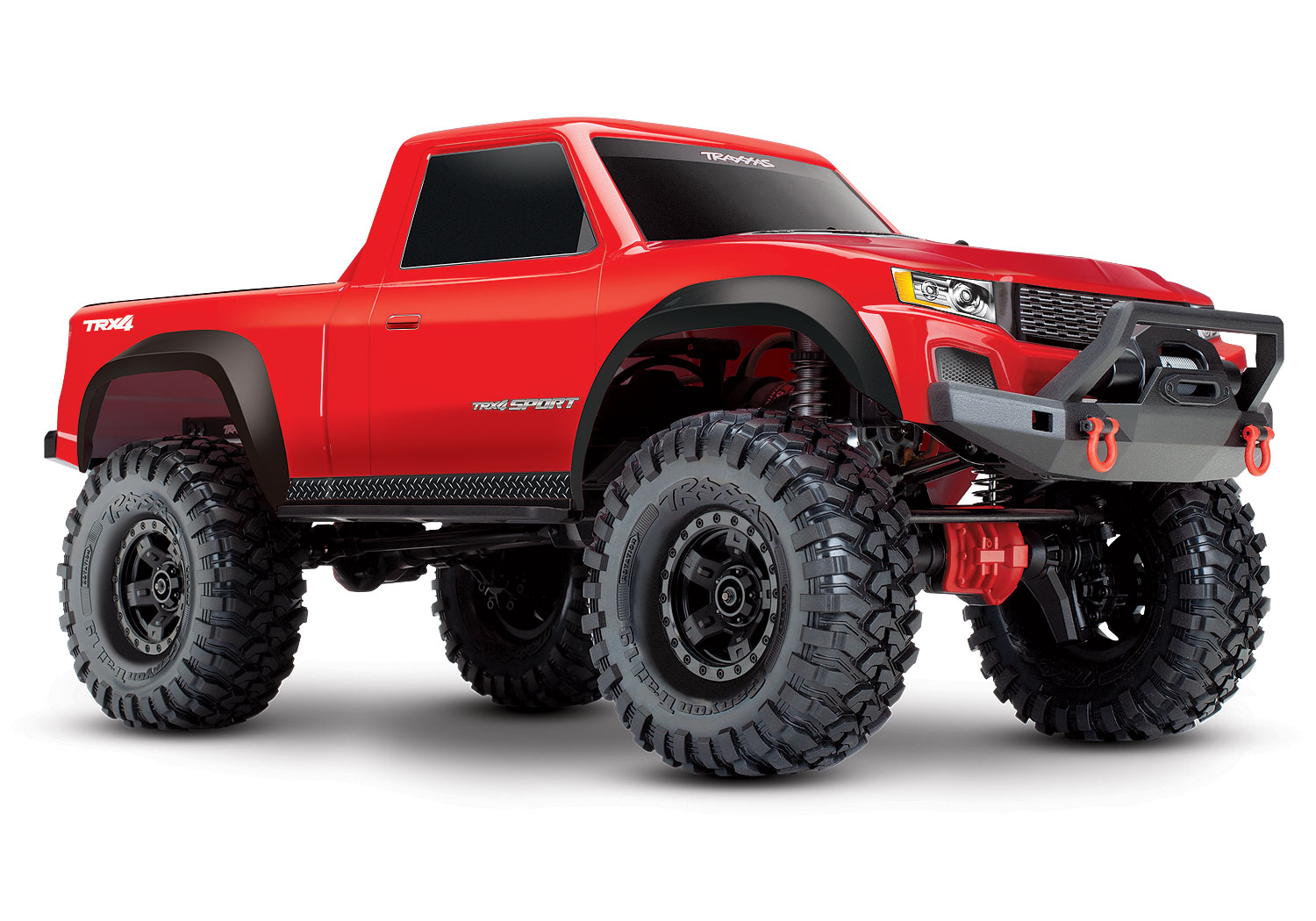 Pack Promo Traxxas TRX-4 Sport Pick Up Rouge TQi RTR + Chargeur TRAXXAS + Batterie Traxxas Lipo 3S, P82024-4