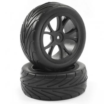 FASTRAX 1/10TH MOUNTED ARROW BUGGY FRONT TYRES 10-SPOKE, FAST0048B