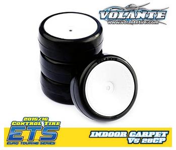 Volante V5 1/10 TC 28CP Indoor Carpet Rubber Tire Preglued (4pcs)  -  V5-PG28CP