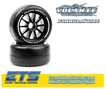 Volante F1 Front Rubber Slick Tires Medium Compound Preglued (Blue·2pcs)  -  VF1-FM