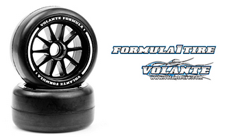 Volante F1 Front Rubber Slick Tires Medium Hard Compound Preglued (2pcs)  -  VF1-FMH