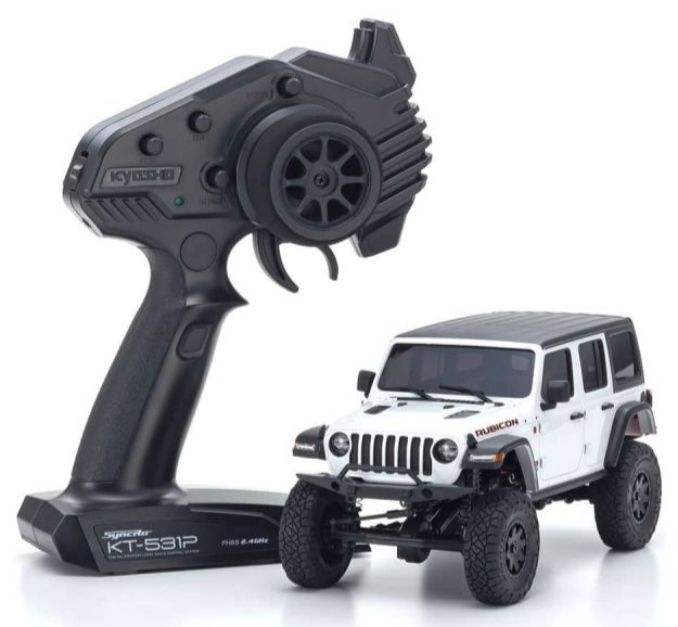 KYOSHO MINI-Z 4×4 Series Readyset Jeep Wrangler Unlimited Rubicon Bright White, 32521W