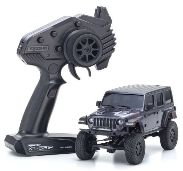 KYOSHO MINI-Z 4×4 Series Readyset Jeep Wrangler Unlimited Rubicon Granite Crystal Metallic, 32521GM