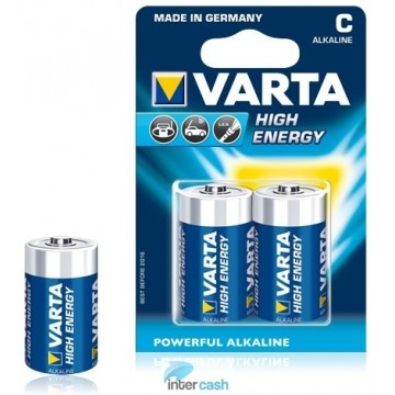 VARTA PILE ALKA HIGH ENERGY LR14 BLISTER DE 2 - 4914402