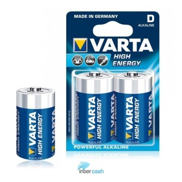 VARTA PILE ALKA HIGH ENERGY LR20 BLISTER DE 2 -  4920402