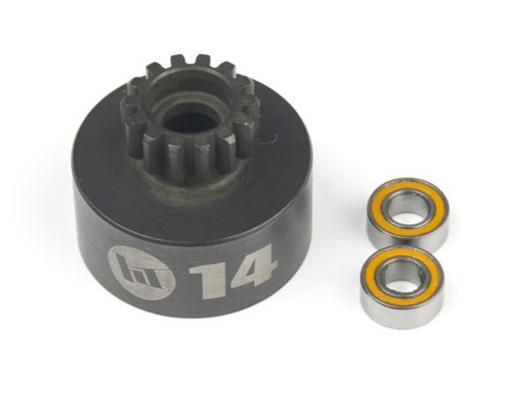 HOBBYTECH Cloche 14 T non ventilee + roulements HI-SPEED, HT-560224