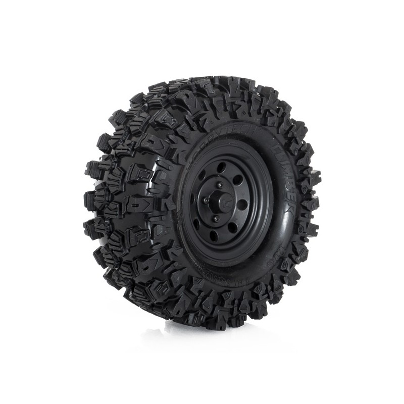 HOBBYTECH Roues completes noires crawler « CLIMBER »121/45 (1 paire), HT-SU1802001