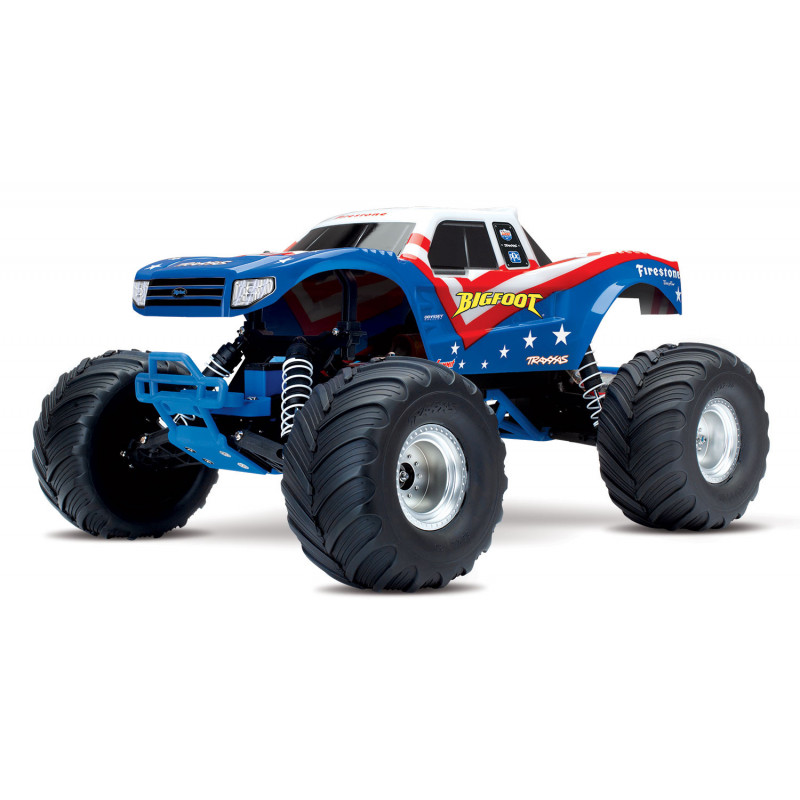 Traxxas Monster Truck Bigfoot 2wd Brushed TQ iD RTR, 36084-1-RWB
