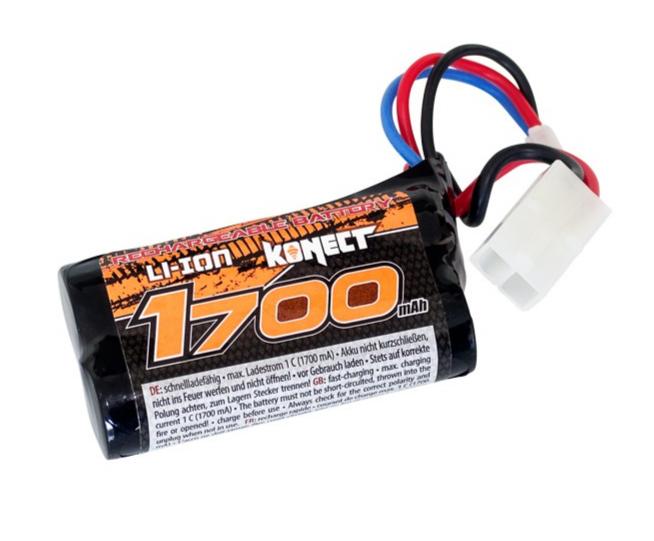 KONECT Batterie li-ion 7.4V 1700 mA 15C, KN-LI0741700