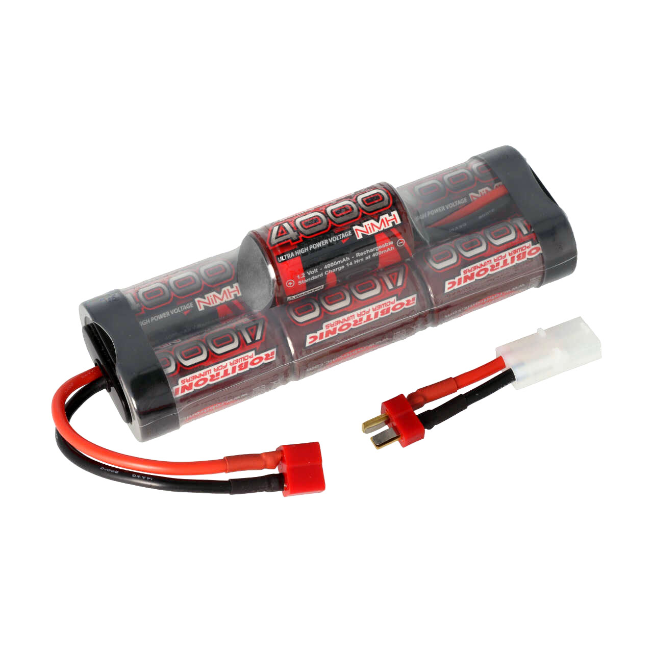 Robitronic NiMH Battery 4000mAh 8,4V Hump Pack T-Plug & Tamiya, R05151