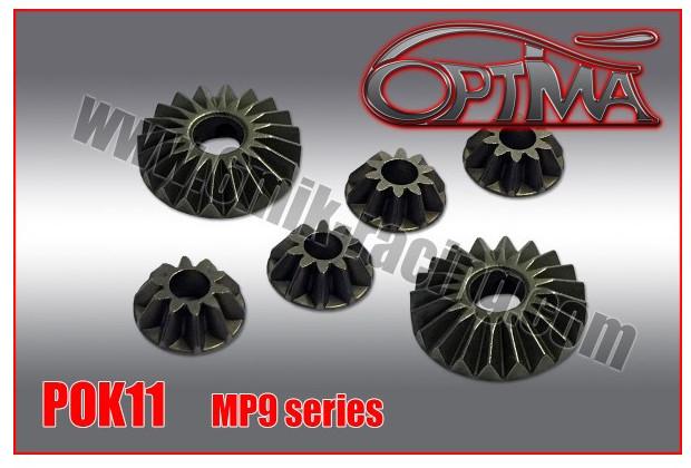 Optima Pignons de Différentiel Acier MP9, POK11