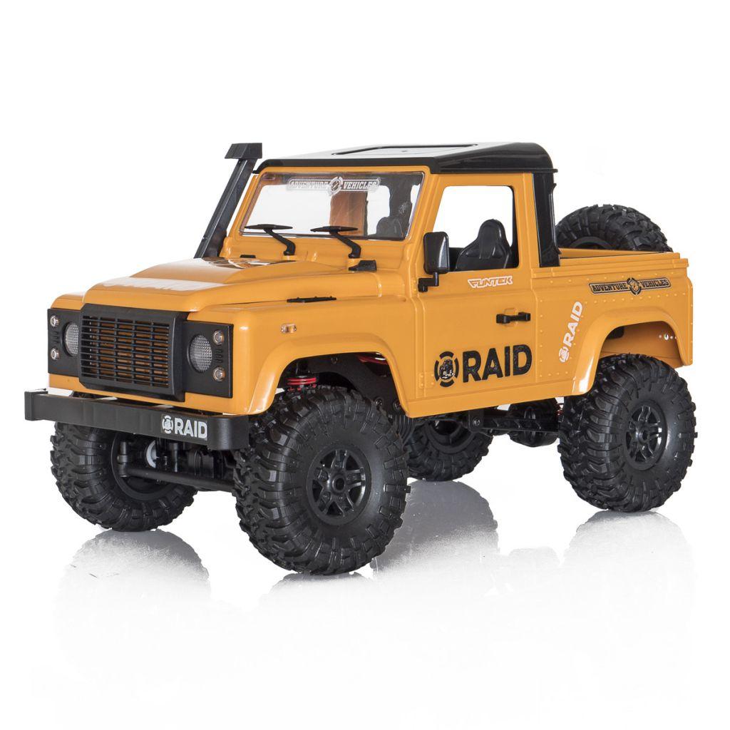 FTK-RAID2-YE - Crawler 1/12 Funtek 4x4 Raid version 2 jaune  - FTK-RAID2-YE