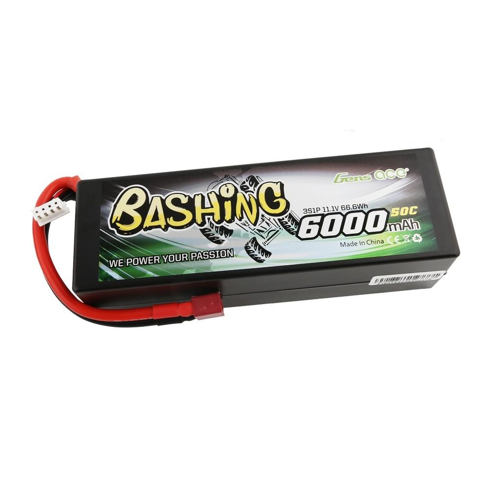 Gens ace Batterie LiPo 3S 11.1V-6000-50C(Deans) 139x46x40mm 395g, GE3-6000-3D