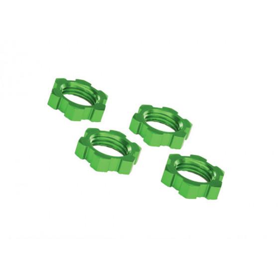 Traxxas Ecrous de Roues 17mm alu vert (x4), 7758G