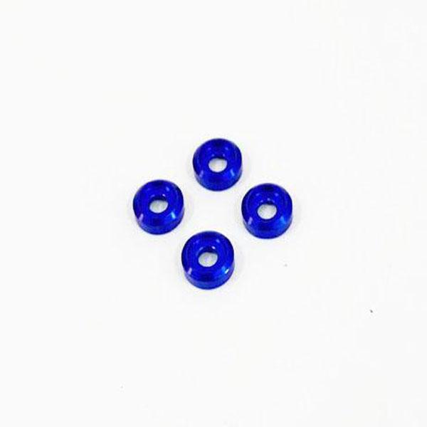 NEXX RACING Rondelle de fixation Damper en alu Bleu, NX-071