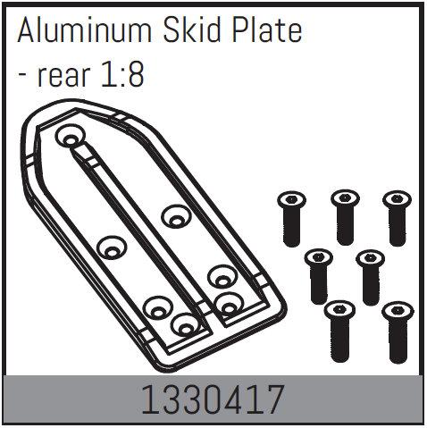 ABSIMA Plaque de protection en aluminium - arrière 1:8, 1330417