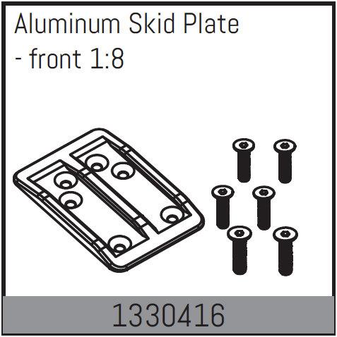 ABSIMA Plaque de protection en aluminium - avant 1:8, 1330416