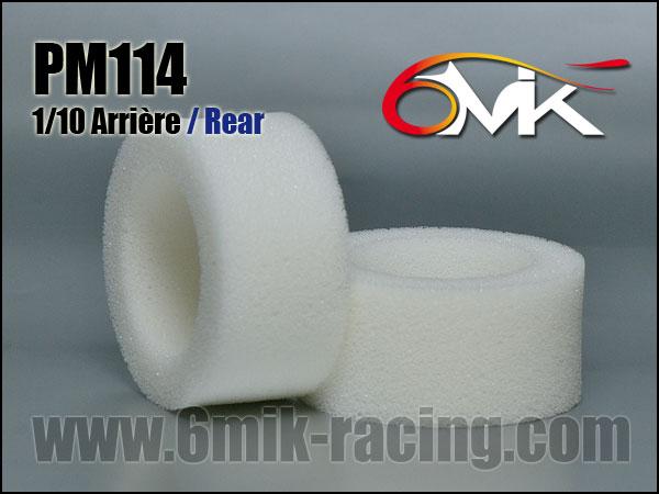 6MIK Mousses de pneus 1/10TT Arrière (la paire), PM114