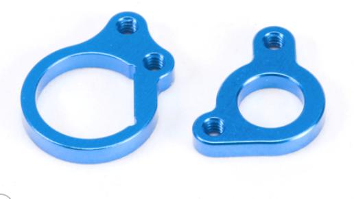 PN RACING Support moteur Kyosho pour POD V4 94-98mm Bleu, MR3311D-B