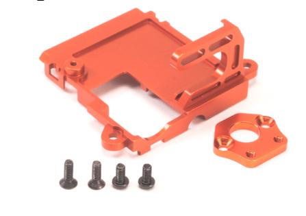 PN RACING Support moteur AWD MR030 en aluminium orange, MA0350O