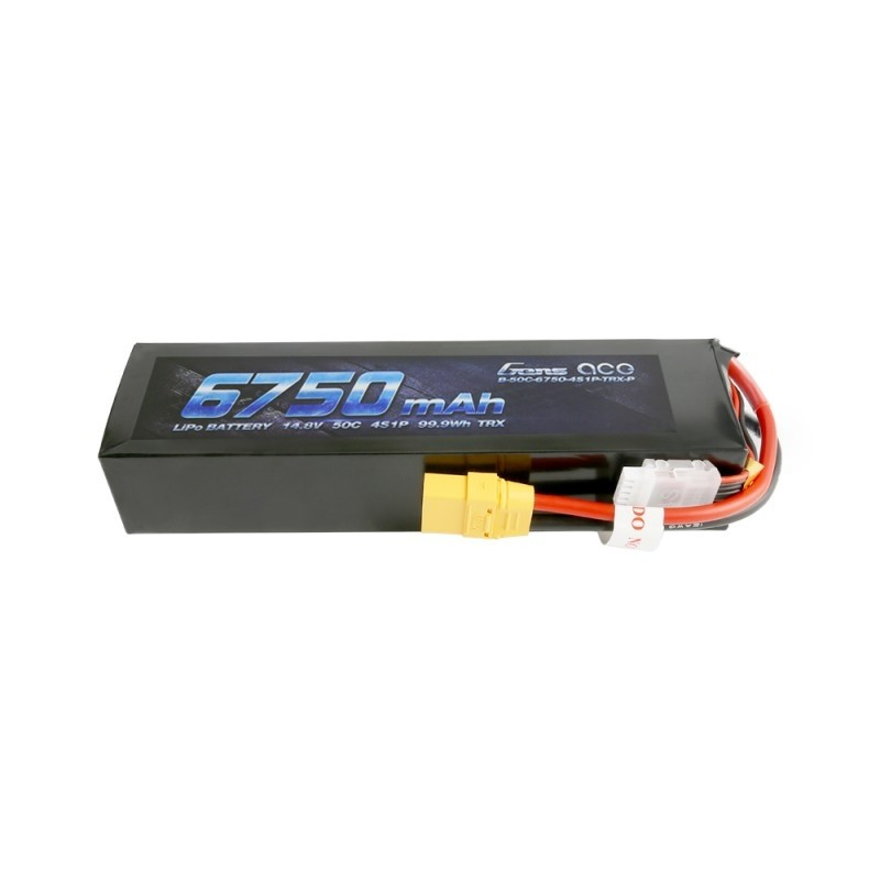 Gens ace Batterie LiPo 4S 14.8V-6750-50C(XT90) 180x49x34mm 645g Soft, GE3-6750LP-4X9