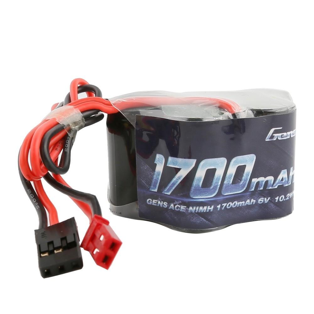 Gens ace Batterie Rx NiMh 6.0V-1700Mah (Dual JR-JST) 125g - Hump, GE6-1700H-JJ
