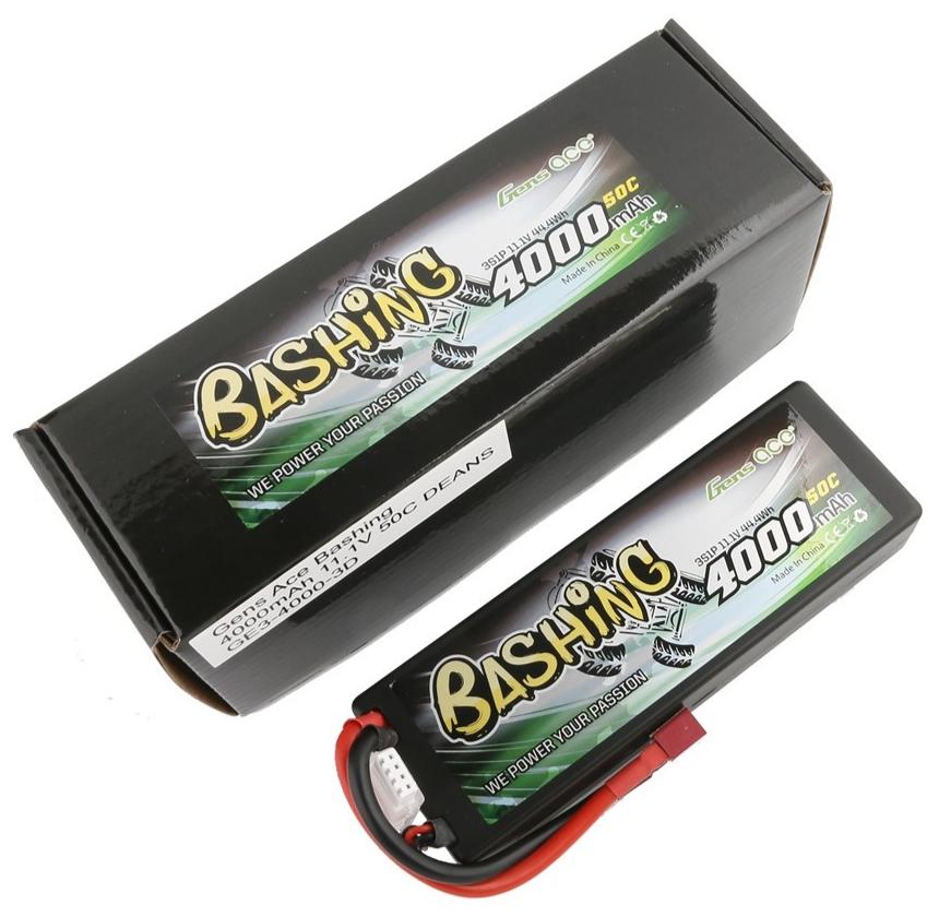 Gens ace Batterie LiPo 3S 11.1V-4000-50C(Deans) LCG 139x46x25mm 280g, GE3-4000-3D