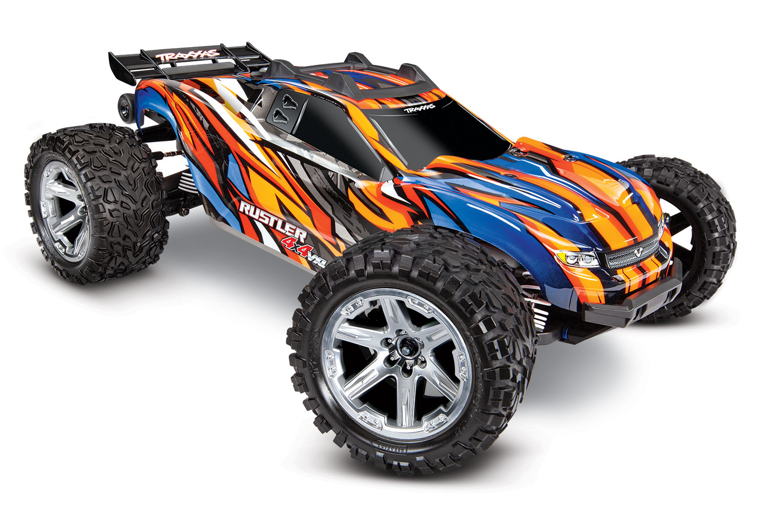 TRXXAS RUSTLER 4x4 Orange 1/10 VXL Brushless - TSM, TRX67076-4-ORNG