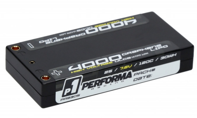 Performa Racing Graphene HV Lipo Shorty 4000 ULCG 7.6V 120C PA9305