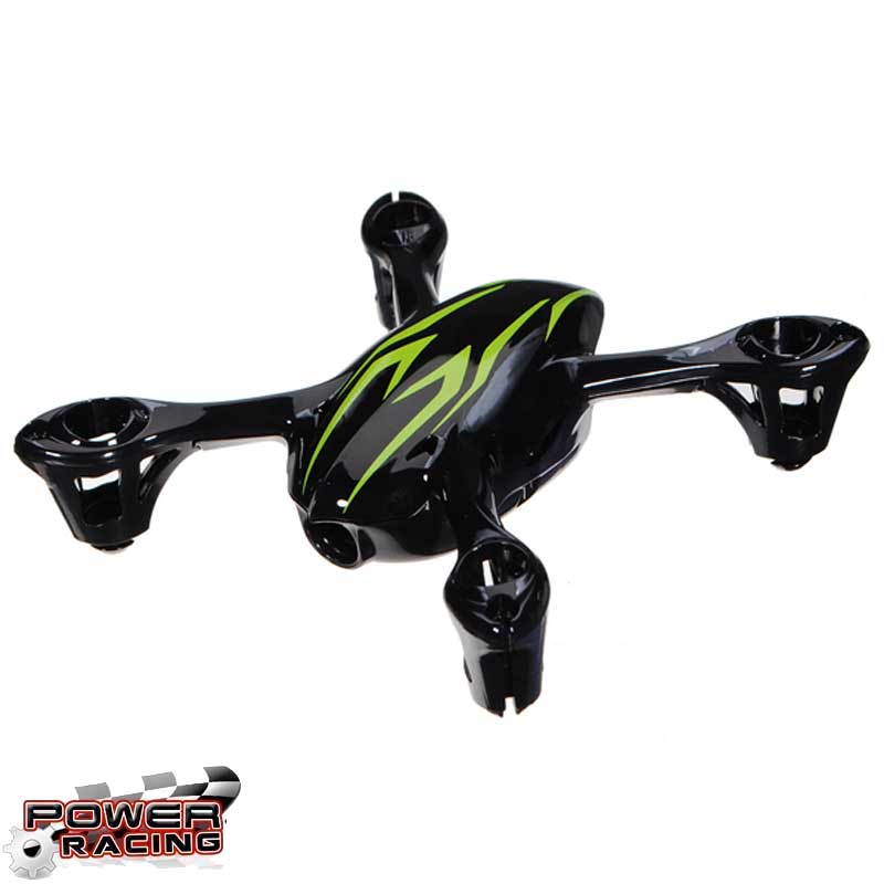 HUBSAN X4C MINI QUADCOPTER BODYSHELL ASSEMBLY - BLACK/GREEN