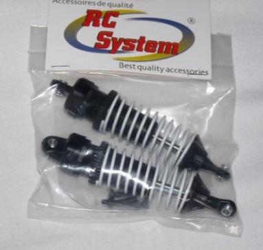 RCSYSTEM Amortisseur plastique x2 pour RC701GR/RC909T/RC808T