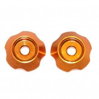 HOBBYTECH Rondelle aileron alu anodisé orange