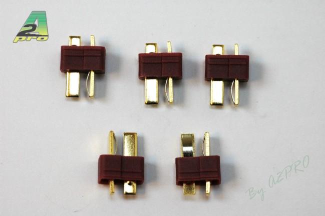 A2P Connecteur T mâle plaqué OR (5 pièces), 14151