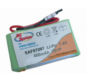 RC SYSTEM Batterie Li-Po 7,4V 460mAh FullyMax.