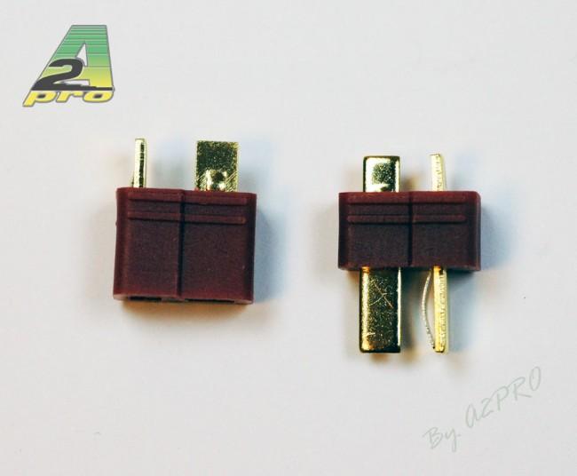 A2P Connecteur T plaqué OR (DEAN) mâle et femelle (paire), 14150